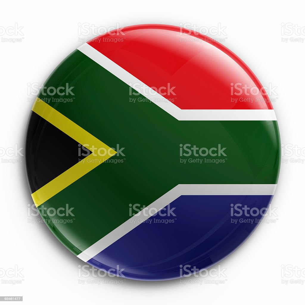 badge - South African flag royalty-free stock photo