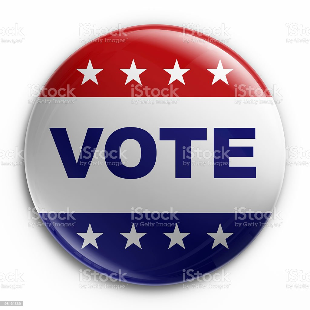 Badge - vote stock photo