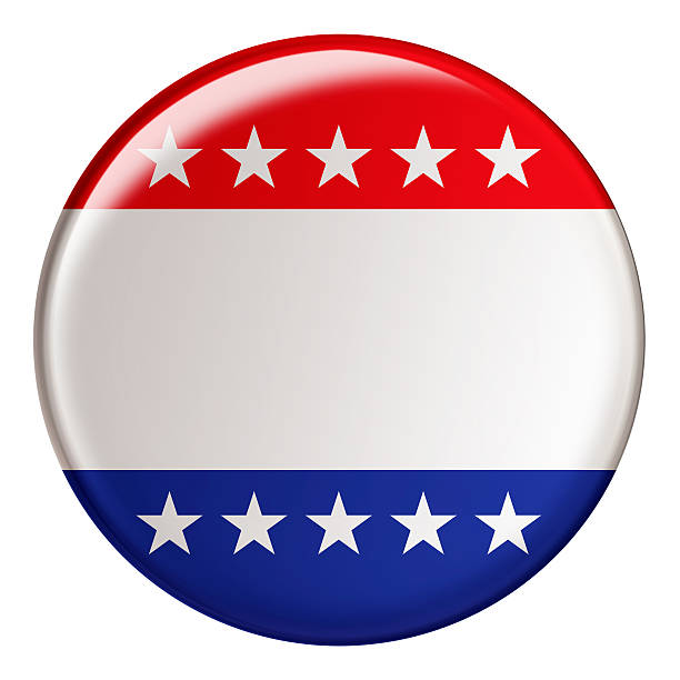 badge with clipping path - vote sign stock photos and pictures