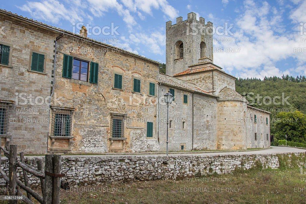 Badia a Coltibuono near Gaiole in Chianti stock photo