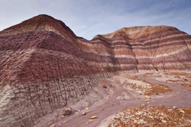 Badland Formation at Blue Mesa stock photo