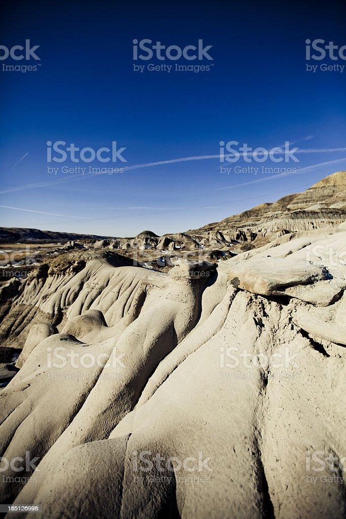 Badlands, Alberta royalty-free stock photo
