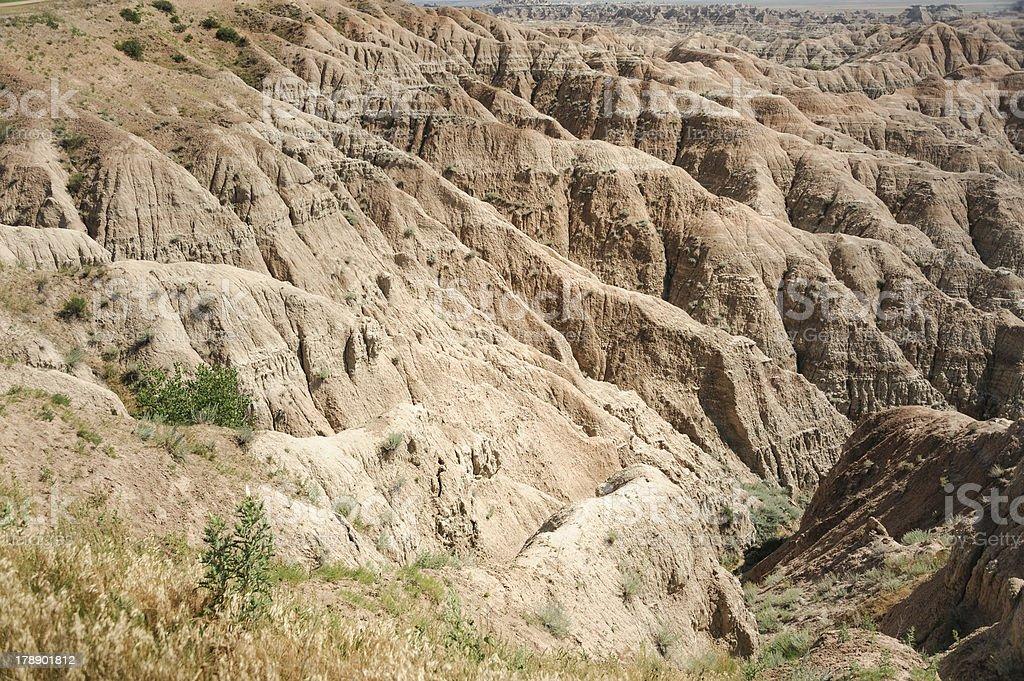 Badlands Canyon stock photo