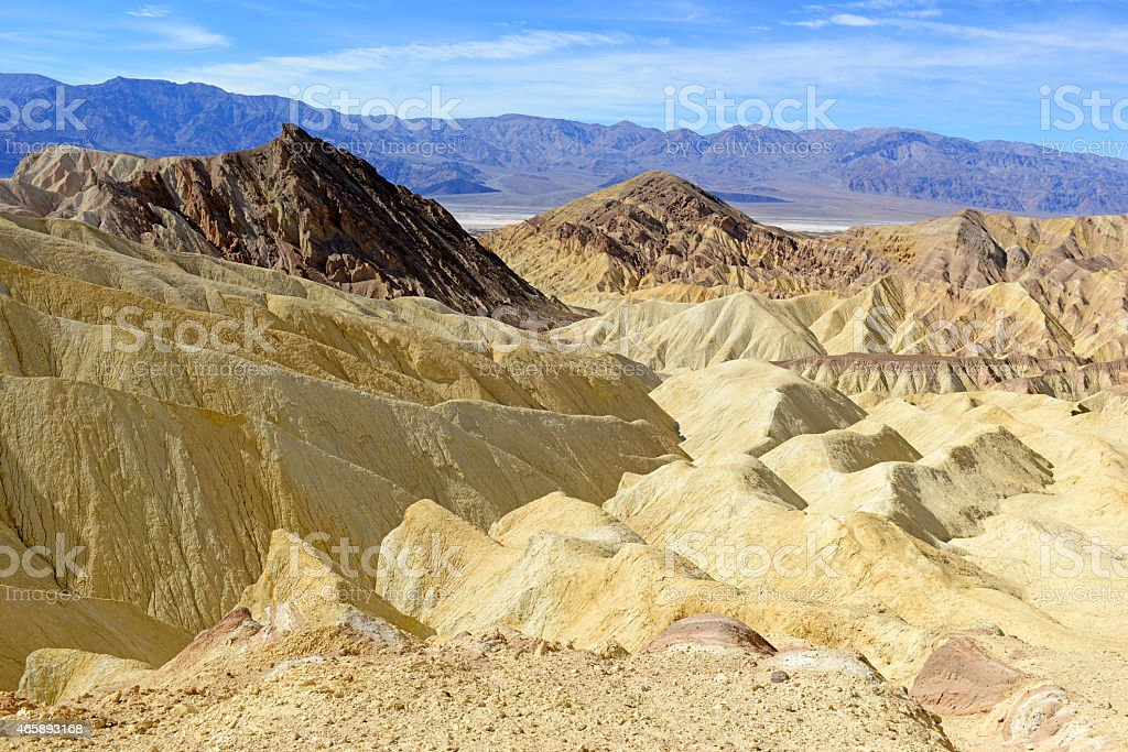 Badlands Desert Landscape, Death Valley National Park stock photo