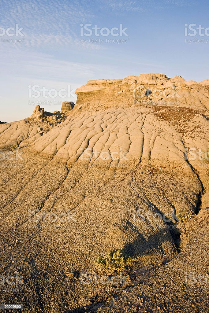 Badlands in Theodore Roosevelt National Park royalty-free stock photo