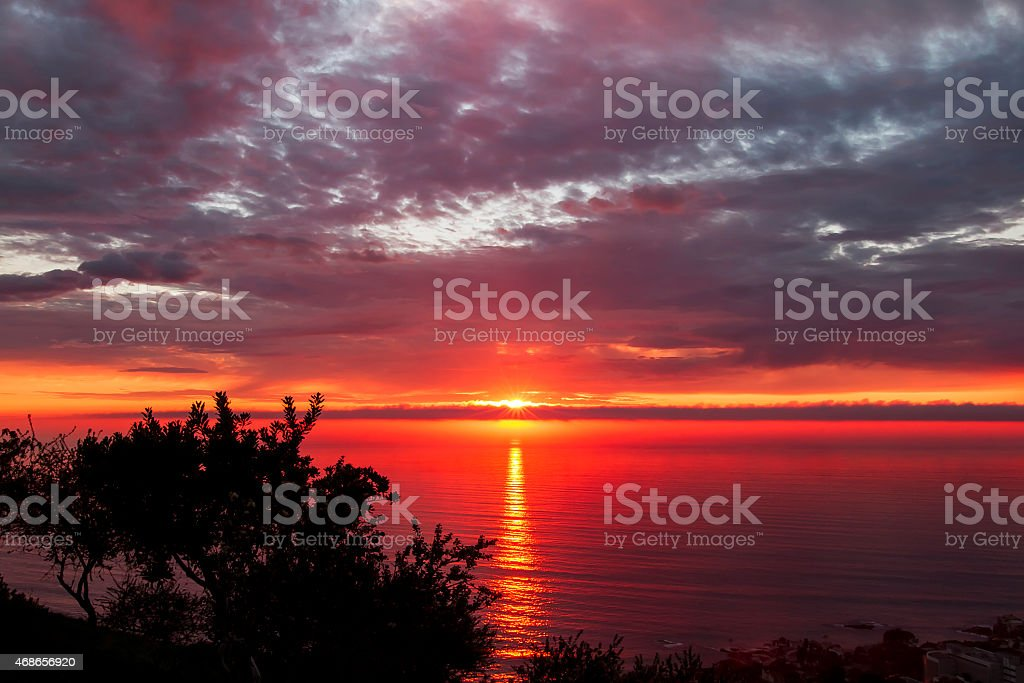 Badlands Laser Sunset stock photo