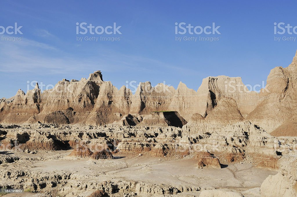 Badlands National Park Landscape in South Dakota stock photo