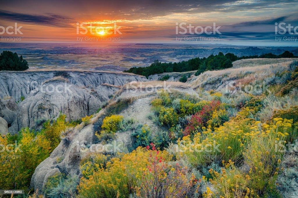 Badlands National Park Sunrise stock photo