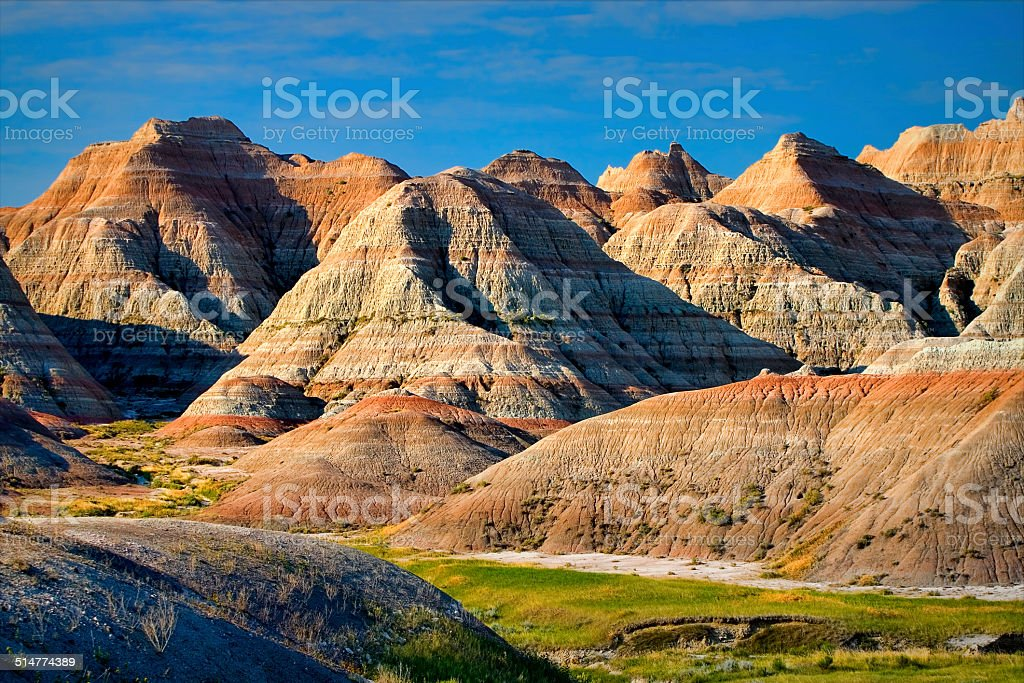 Badlands of South Dakota stock photo