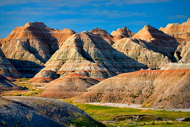 Badlands of South Dakota stock photo