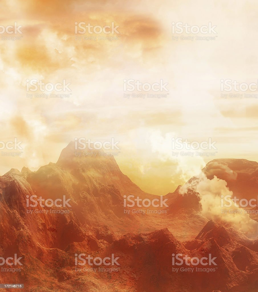 badlands stock photo