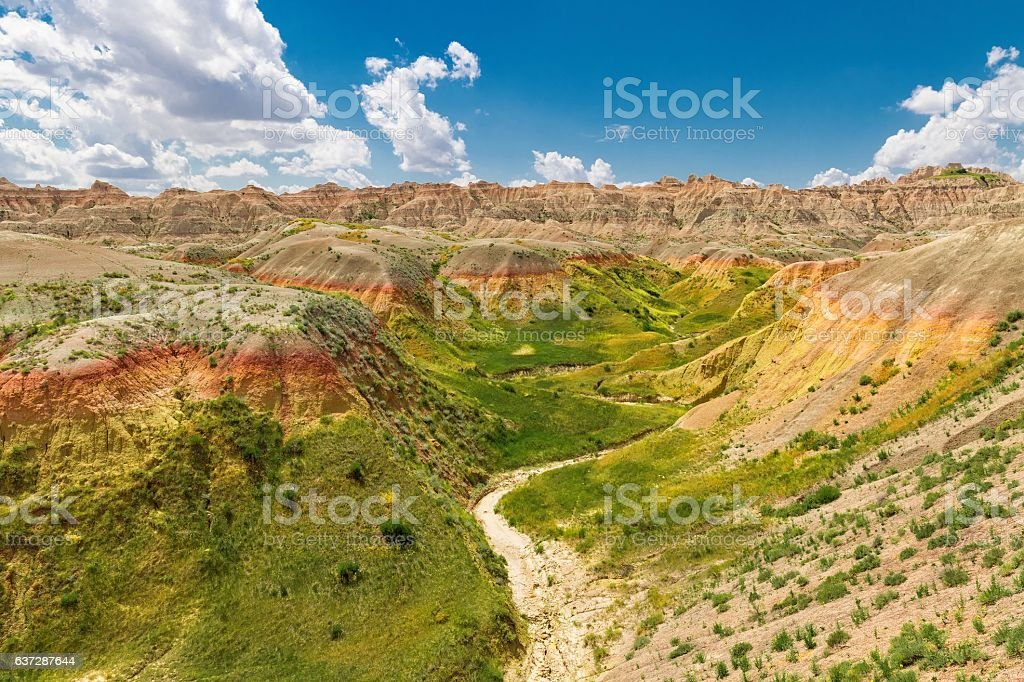 Badlands Rolling Hills stock photo