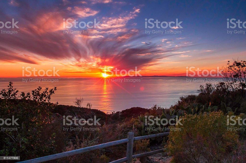 Badlands Sunset stock photo