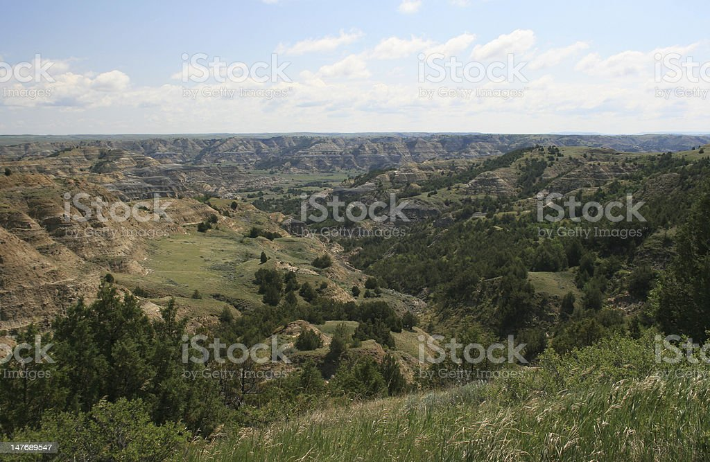 Badlands, Theodore Roosevelt National Park stock photo