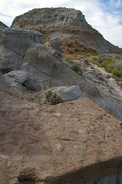Badlands View of Rock Formations stock photo