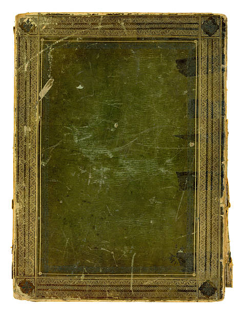 Male danneggiato copertina Libro antico - foto stock