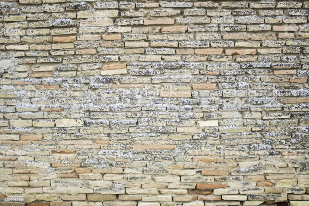 Badly damaged bricks stock photo