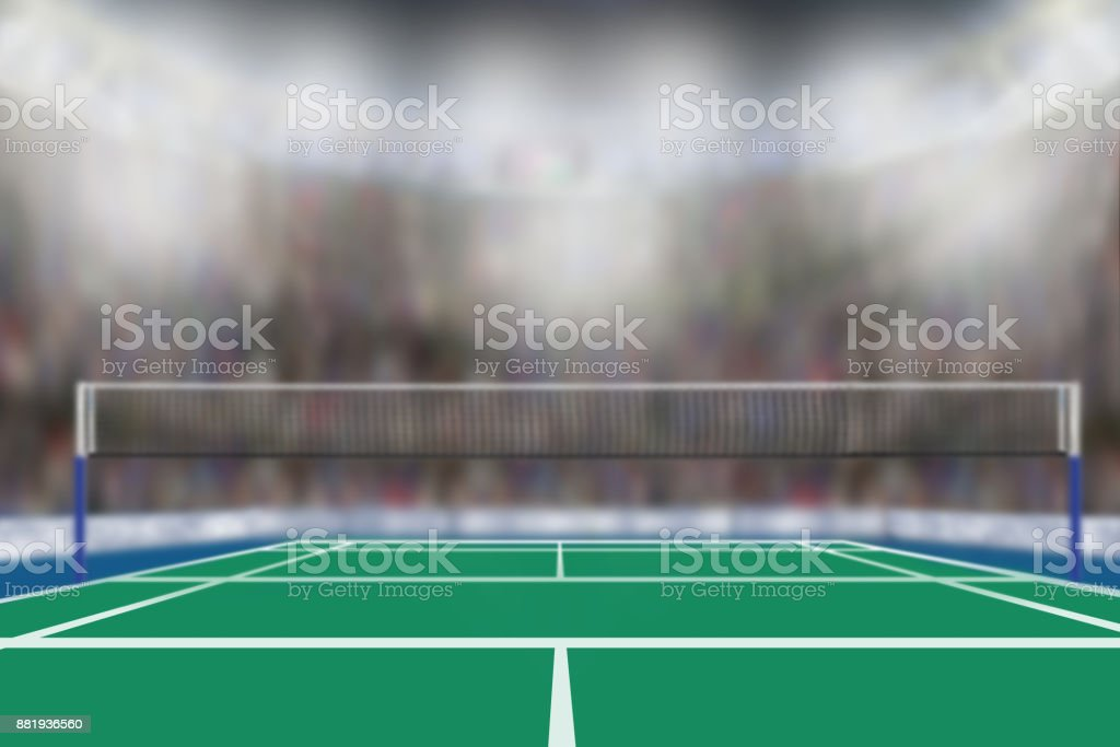 Badminton Arena With Copy Space stock photo