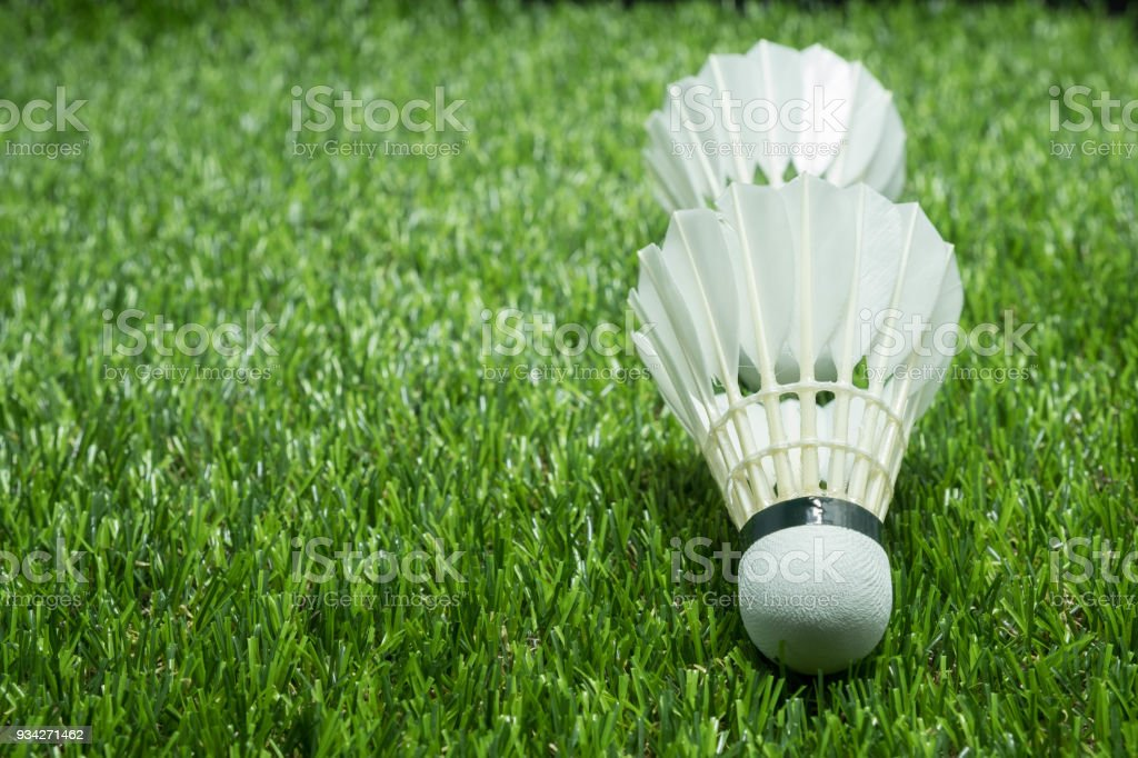 Cтоковое фото Badminton ball on glass