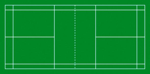 Badminton Court Stock Photo - Download Image Now