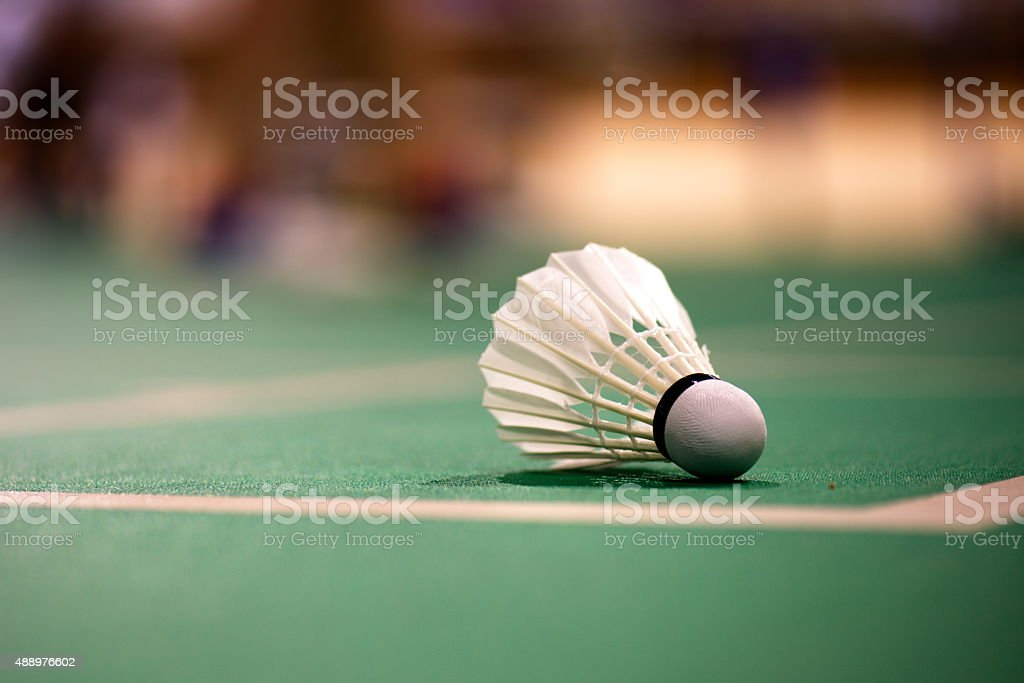 badminton court stock photo