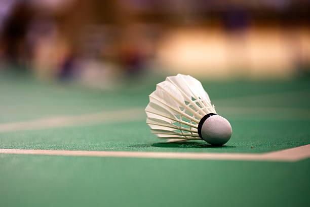 Quadra de badminton - foto de acervo