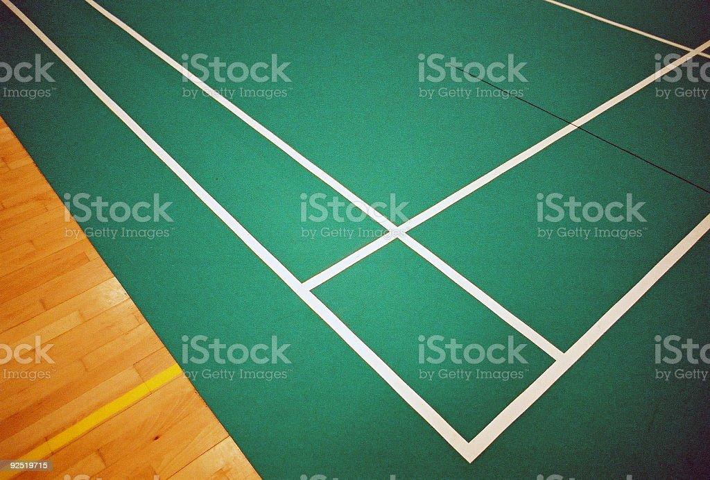 Badminton Court stock photo