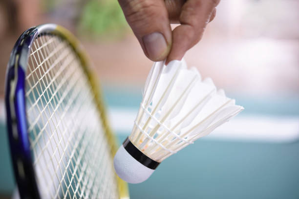 badminton gear - shuttlecock stock pictures, royalty-free photos & images
