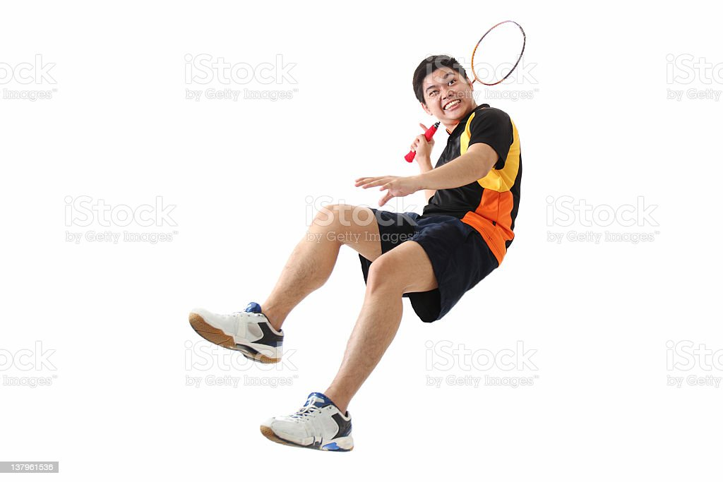Badminton en action - Photo