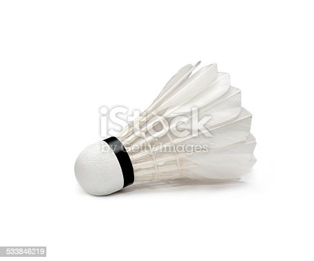 Badminton on white background