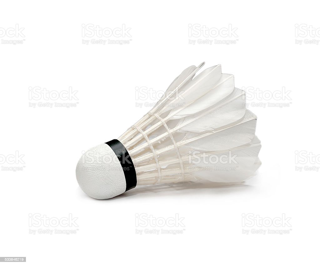 Badminton isolated stock photo
