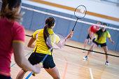 Badminton mixed doubles