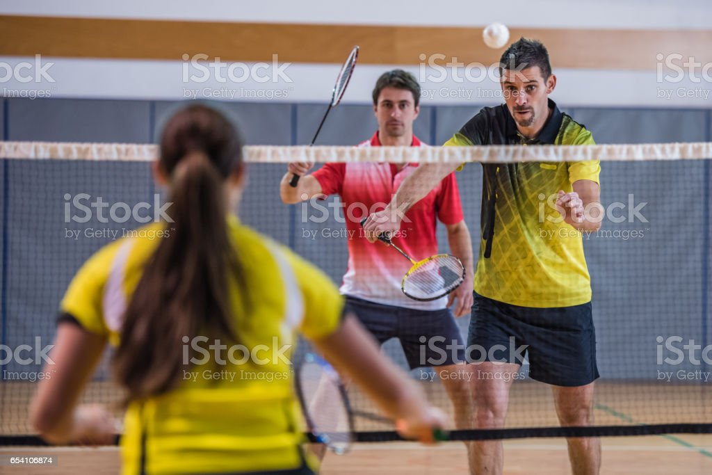 Double mixte de badminton - Photo