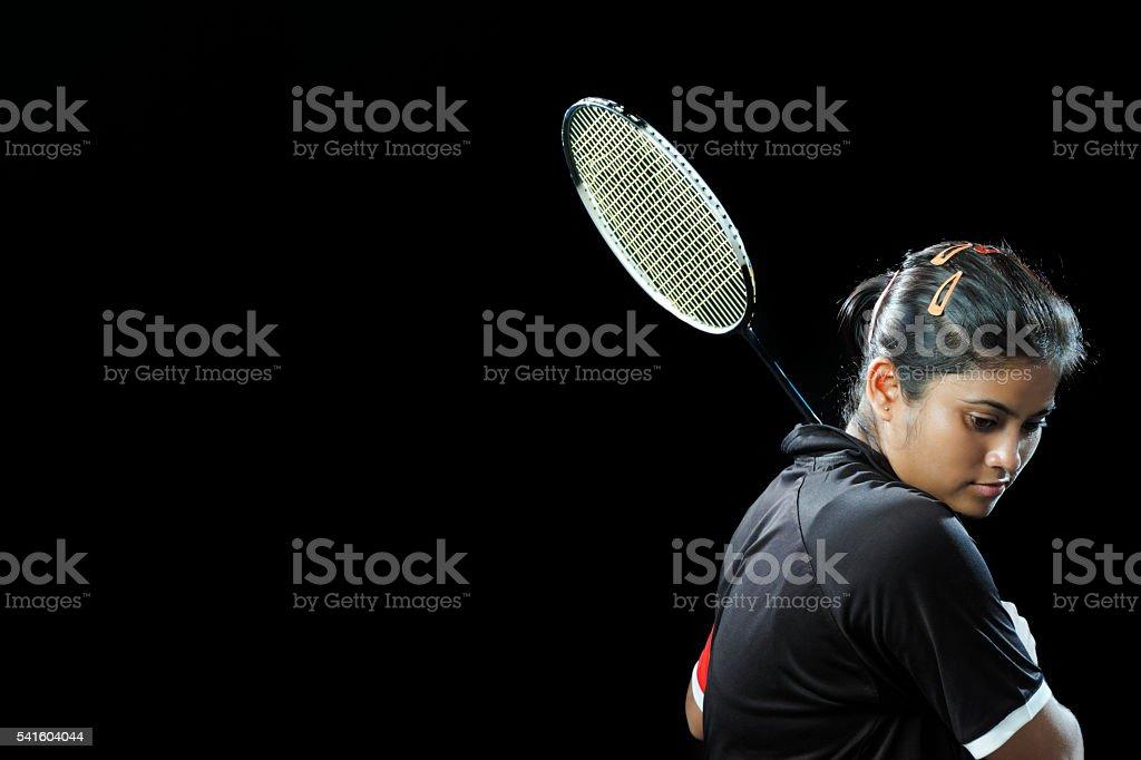 Jugador de bádminton - foto de stock