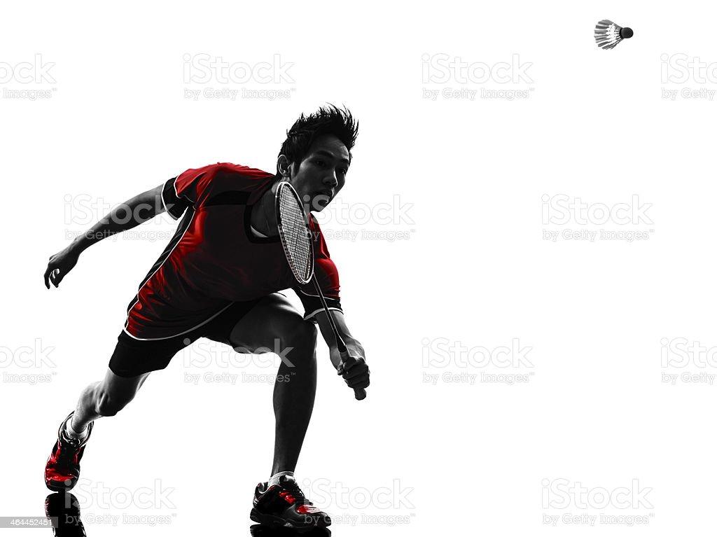 badminton joueur jeune homme silhouette de - Photo