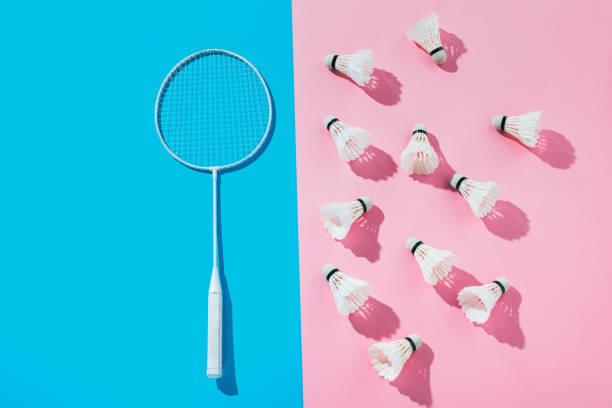 raqueta de bádminton - bádminton deporte fotografías e imágenes de stock