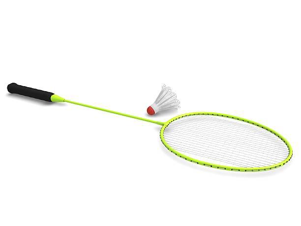 Badminton Racket with Shuttlecock stock photo