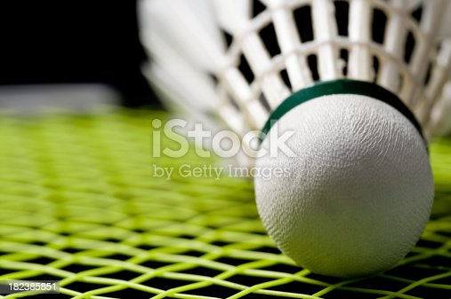 Badminton shuttlecock isolated against a black background.Please see some similar pictures from Woraput portfolio: