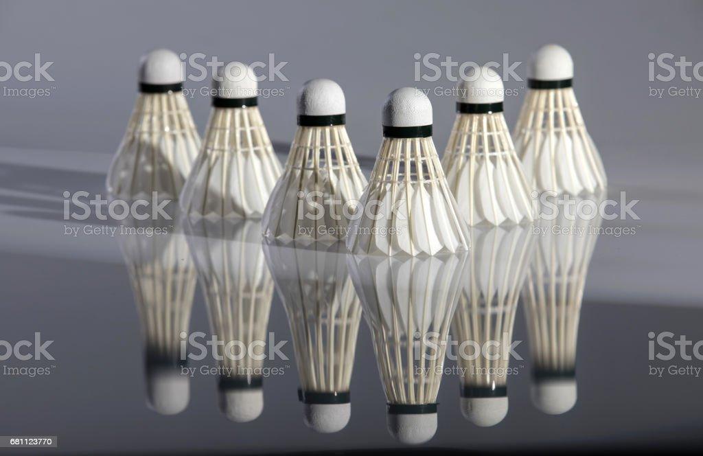 Badminton shuttlecock royalty-free stock photo