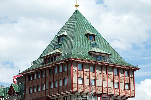 badrutt's palace hotel - patrick hutter stock-fotos und bilder