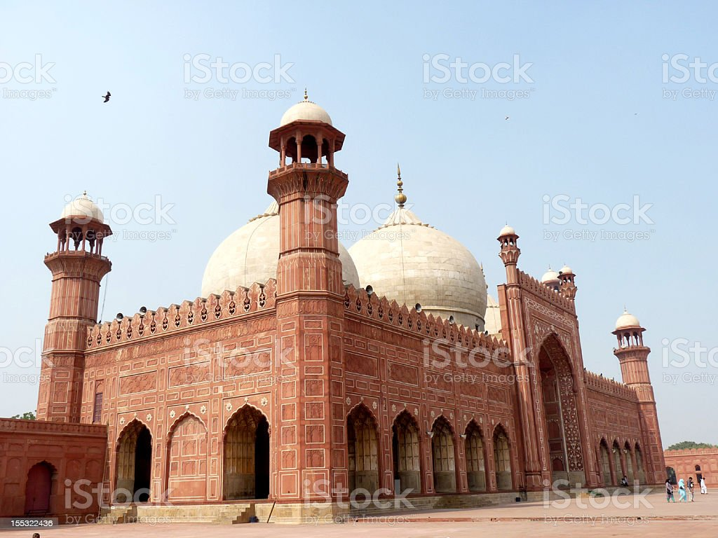 Badshahi Mosque Side View royalty-free stock photo
