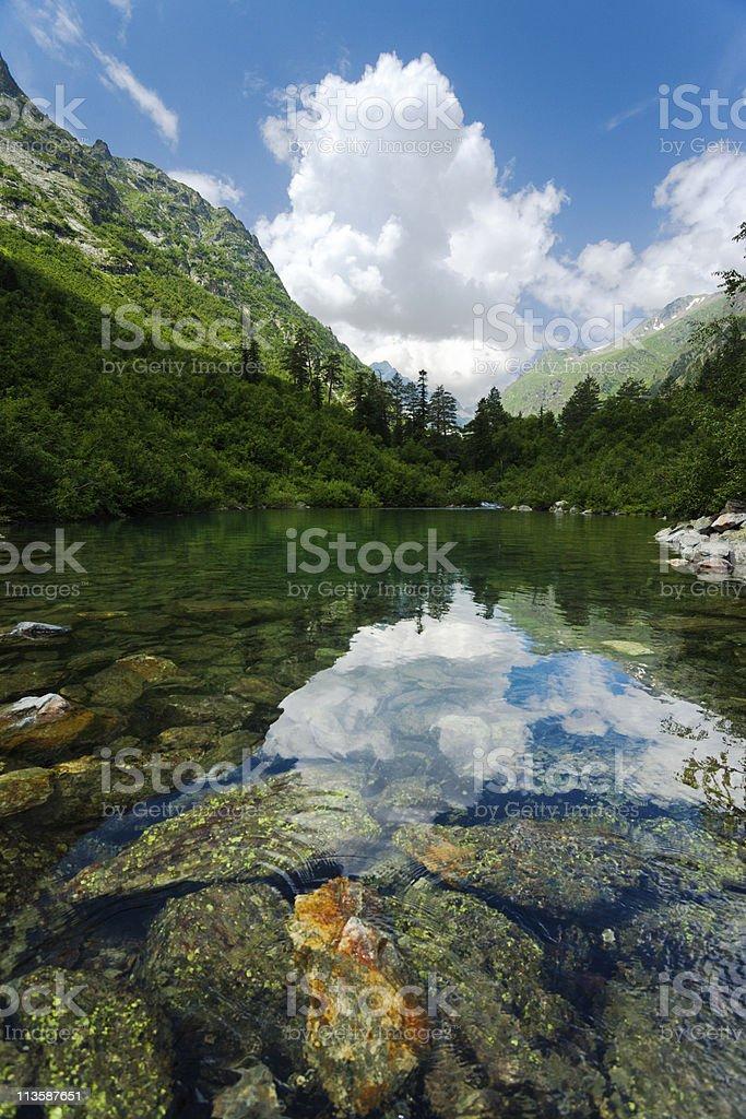 Badukskoe Lake in Caucasus stock photo