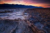Sunrise at Badwater basin, Death Valley, California, USA.