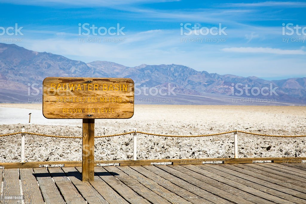 Badwater Basin, Death Valley National Park, California, USA, stock photo