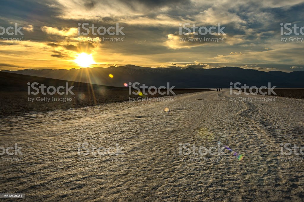 Badwater Basin, Death Valley National Park stock photo