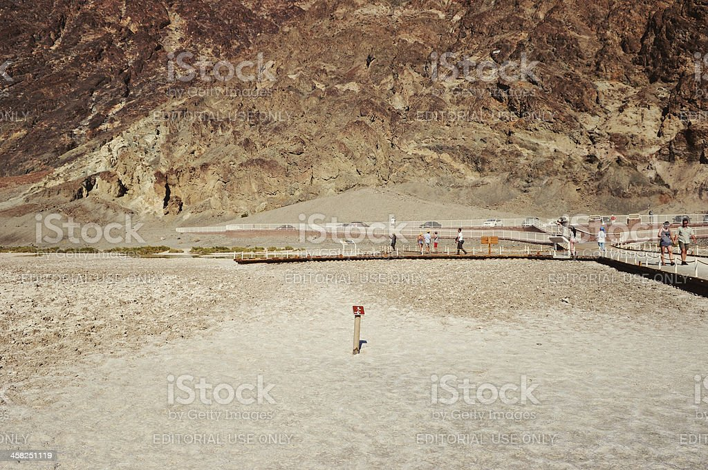 Badwater Basin in Death Valley National Park royalty-free stock photo