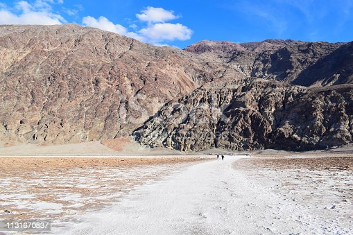 The deepest point of North America: Badwater basin. Photo taken in January 2019.