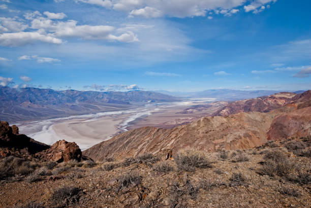 Badwater Basin from Dante's View stock photo