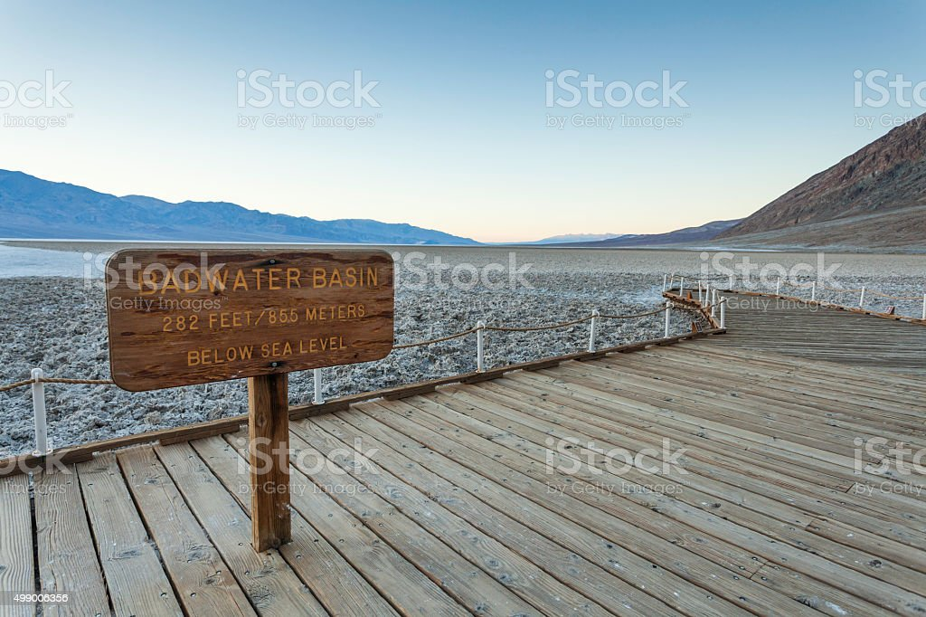 Badwater Basin stock photo