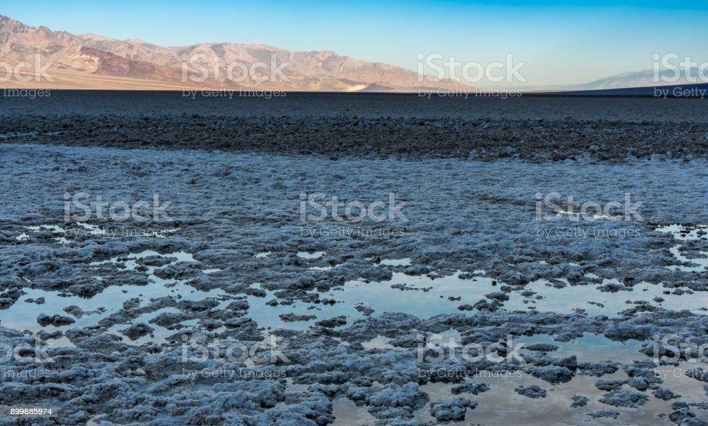 Badwater Basin Puddles stock photo